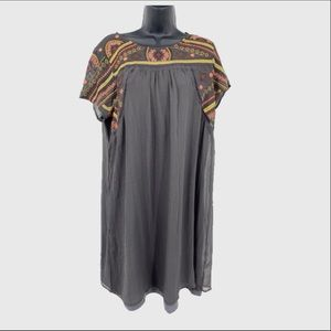 Sundance Rayon blend embroidered dress